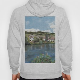 English Cottages by a River. Hoody