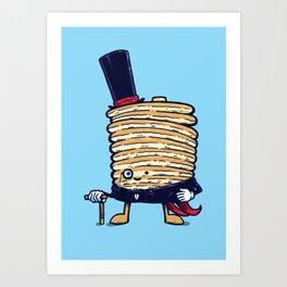 Fancy Captain Pancake Art Print
