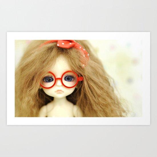 Red Glasses Art Print