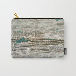 Rustic Wood Ages Gracefully - Beautiful Weathered Wooden Plank - knotty wood weathered turquoise pa Carry-All Pouch