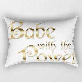 Labyrinth Babe With The Power (white bg) Rectangular Pillow