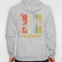 Retro Fort Myers Florida Palm Trees Vacation Hoody
