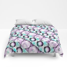 Horizontal Shadow Geometrics Lavender Comforters