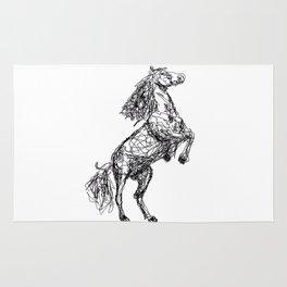 Rearing horse Rug