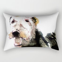 Airedale Terrier on watercolor Rectangular Pillow