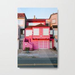 Pink House // San Francisco Metal Print