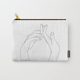 Hands line drawing illustration - Abi Carry-All Pouch
