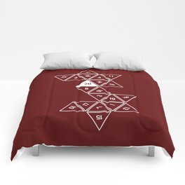 Red Unrolled D20 Comforters