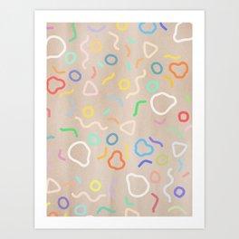 Confetti Party Art Print