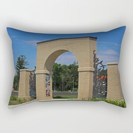 Lourdes University- Lourdes Entrance in the Spring II Rectangular Pillow