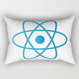 Abstract Isolated Atom Rectangular Pillow
