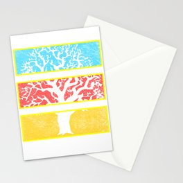 Tree Window Panels Stationery Cards