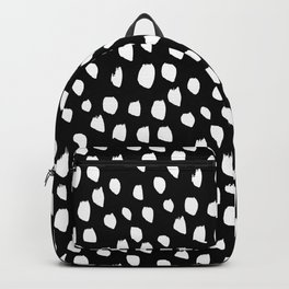 Handdrawn drops and dots on black - Mix & Match with Simplicty of life Backpack