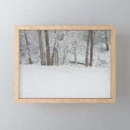 Winter's First Snow Framed Mini Art Print