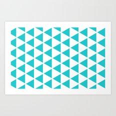Sleyer Blue on White Pattern Art Print