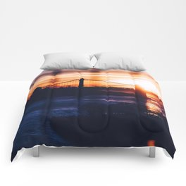 New York bridge Comforters