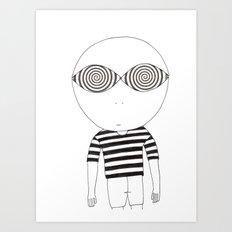 hypnotic child Art Print
