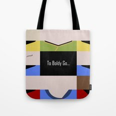 To Boldy Go - Star Trek The Original Series TOS - startrek Trektangle Kirk Spock Bones Minimalist Tote Bag