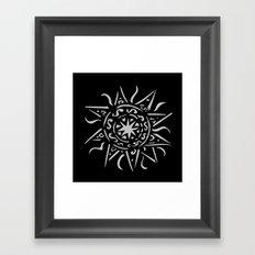 Celtic sun Framed Art Print