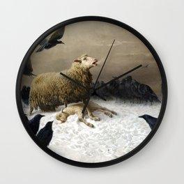 August Friedrich Albrecht Schenck Anguish Wall Clock