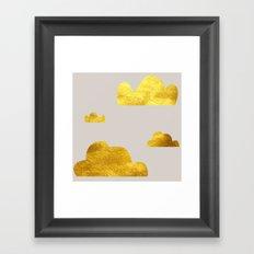 Gold Clouds Framed Art Print