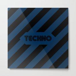 Techno Design for Djs Metal Print