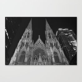 St. Patrick's Black and White Canvas Print