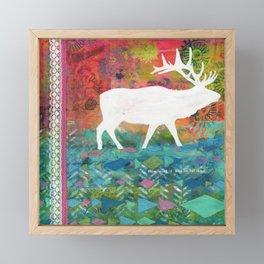 How Wild It Was Elk Collage Framed Mini Art Print