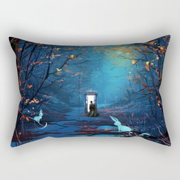 Tardis Lost In The Forest Rectangular Pillow