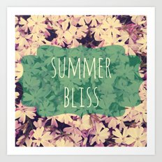 Summer Bliss Art Print