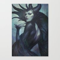 artgerm Canvas Prints featuring Wicked by Artgerm™