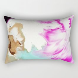 Happiness Ever Abstract Watercolor Painting Rectangular Pillow