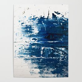 Tranquil: a minimal, abstract piece in blue by Alyssa Hamilton Art Poster