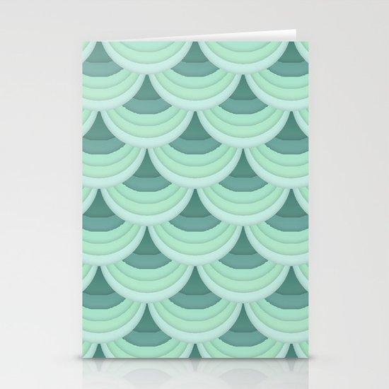 Ocean Fan Tail. Stationery Cards