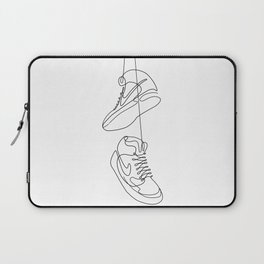 Sneakers simple minimal one line art, hanging shoes branded shoes  Laptop Sleeve