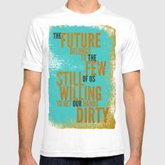 The Future Belongs to You MEDIUM White Mens Fitted Tee