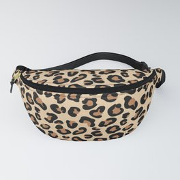 Leopard Print, Black, Brown, Rust and Tan Fanny Pack