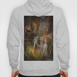 Abstract Cubist Style Guitar Hoody