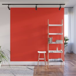 Solid Bright Fire Engine Red Color Wall Mural