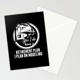 Pension Model Building Stationery Cards