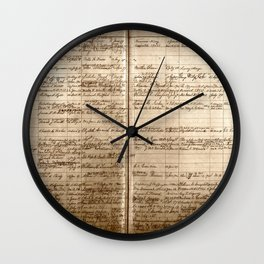 Post Office Postmaster Appointments Antique Paper Wall Clock
