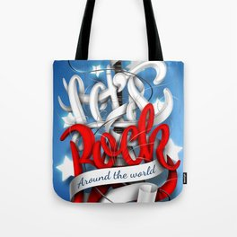 Let's Rock Around The World Tote Bag