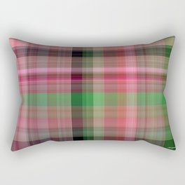 Pink Roses in Anzures 2 Plaid 1 Rectangular Pillow