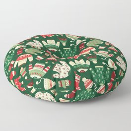Ugly Christmas Fashion red green white Floor Pillow
