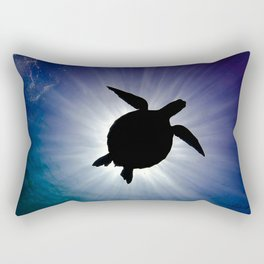 Sea Turtle Eclipse Rectangular Pillow