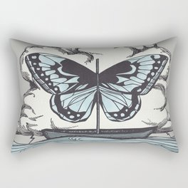 Butterfly Boat - We Are Not Troubled Guests Rectangular Pillow