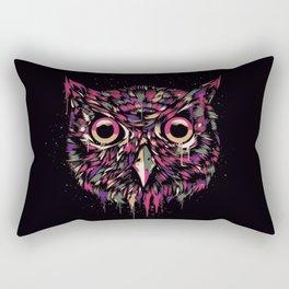 Colored Owl Rectangular Pillow