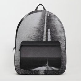 From Here to Eternity; the Road up Ahead of You black and white photography - photographs Backpack
