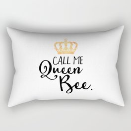 Queen Bee Funny Quote Rectangular Pillow