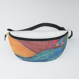 Quilted Bird Fanny Pack